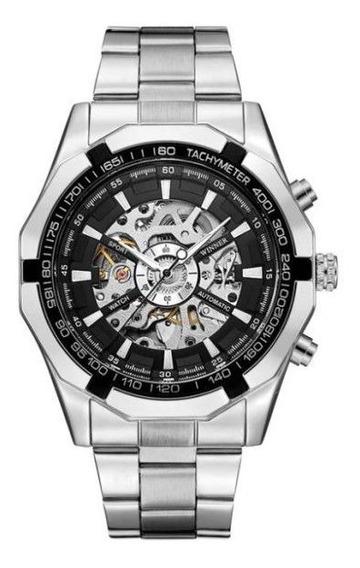 Relógio Masculino Forsining Esqueleto Analógico Automático