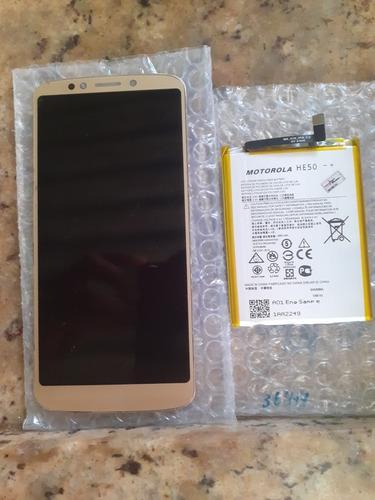 Imagem 1 de 2 de Tela E Bateria Do Moto E5 Plus Novos