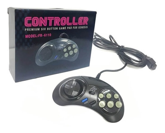 Controle Joystick Mega Drive Novo Cabo 1,70 Cm