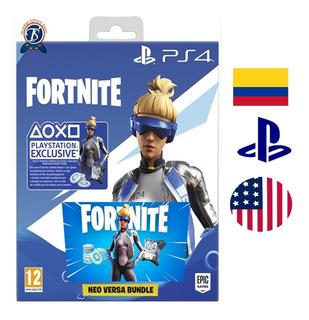 Fortnite Playstation 4 Neo Versa Skin + 500 V-bucks Codigo