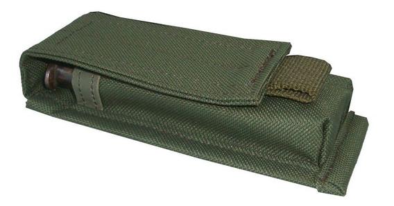 Portacargador Simple Pistola 9mm/11.25 Sistema Molle/ Tactico Militar/policial/gendarmeria/seguridad/verde,negro Y Camo