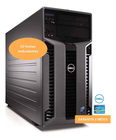 Servidor Dell T610 Poweredge 300gb 16gb 2 Fontes Redundantes