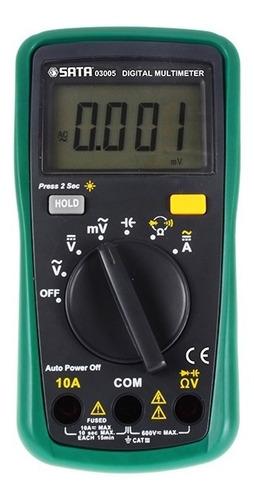 Imagen 1 de 2 de Multimetro Digital Con Medición Hz Ref.03007 Sata