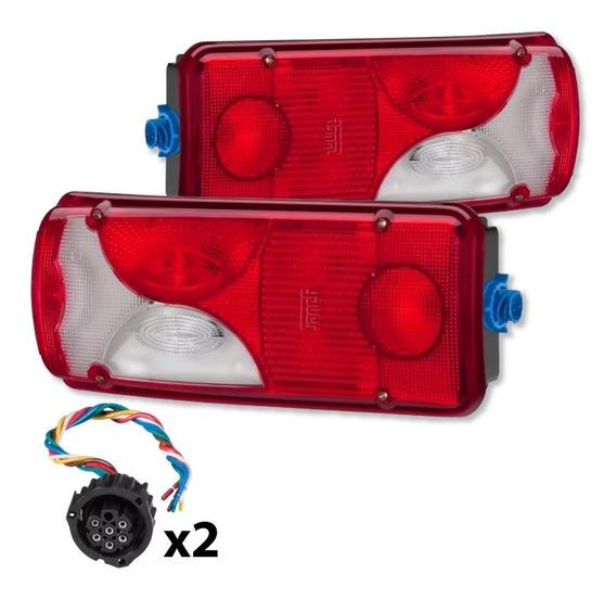 Par Lanterna Scania 124 Serie 4 Serie 5 Botinha Com Chicote