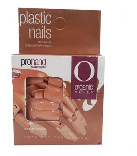 Uñas Plastico Repuesto Practica Prohand 120pzs Organic Nails