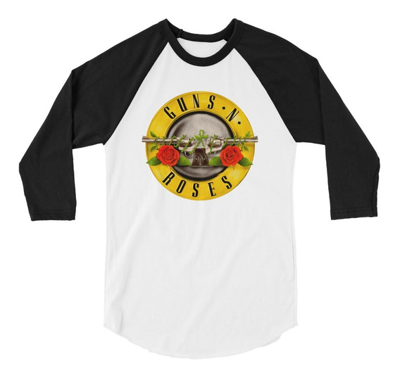 Playera Raglan 3/4 Guns N
