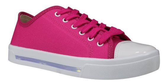 Tênis Feminino Moleca 5667.411 Pink - Turquesa Lona Premium