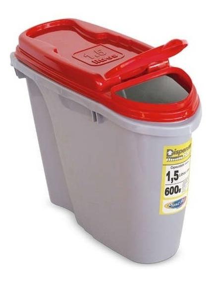 Porta Ração Dispenser Home Plast Pet 1,5l Vermelho