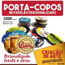 Porta-copos - Bolachas De Chopp Personalizado Coca Cola Etc