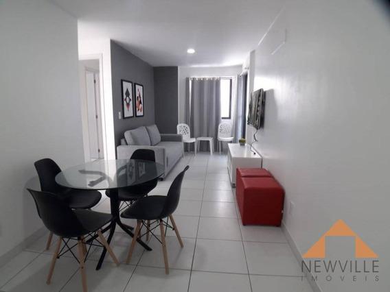 Apartamento Com 2 Quartos Para Alugar, 57 M² Por R$ 3.400/mês - Boa Viagem - Recife/pe - Ap2138