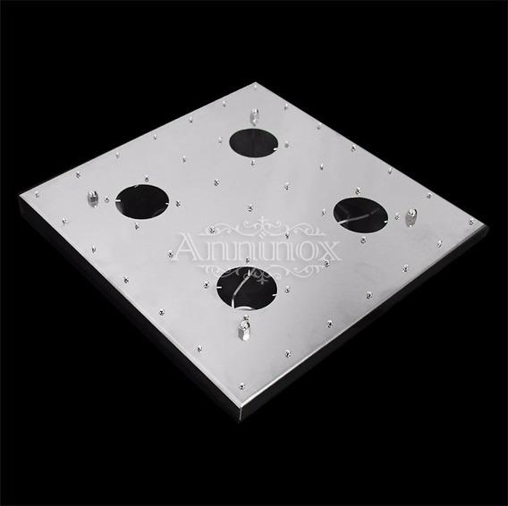 Base Para Montagem De Lustres De Cristal Em Inox 28x28