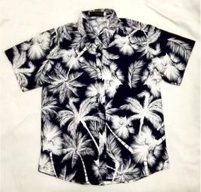 Camisa Manga Curta Havaiana 2018 Verão Masculina Floral