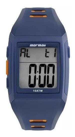 Relógio Masculino Mormaii Mo967ab/8a 38mm Borracha Azul