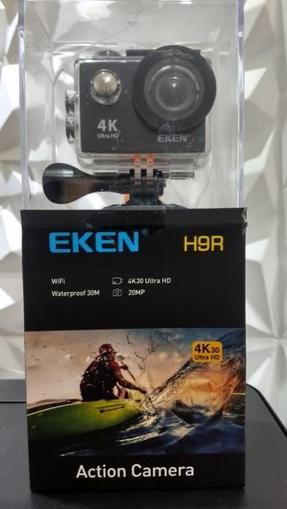 Camera Eken H9r 4k Wifi+case+bastão+suporte Peito