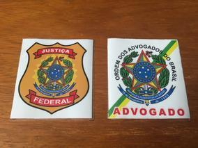 Dois Adesivos Justiça Federal E Advogado - Frete Grátis