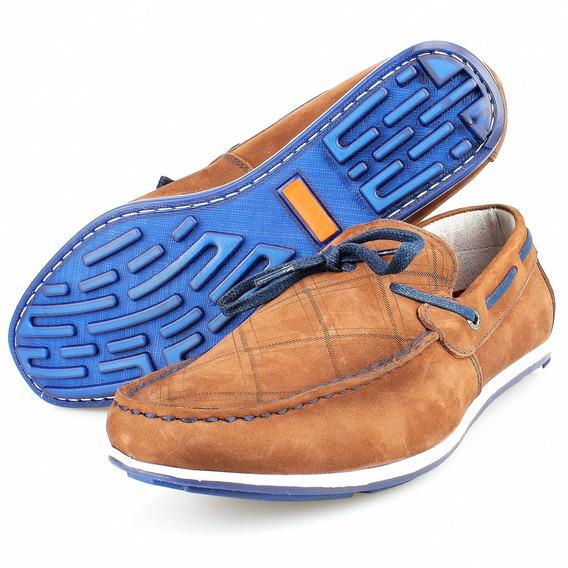 Sapatilha Masculina Sapato Drive Mocassim Em Couro Legítimo