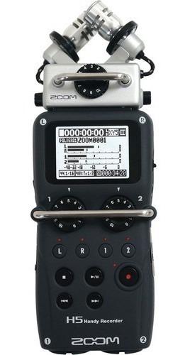 Imagem 1 de 6 de Gravador Digital Zoom H5 4 Canais + Acessorios + Case