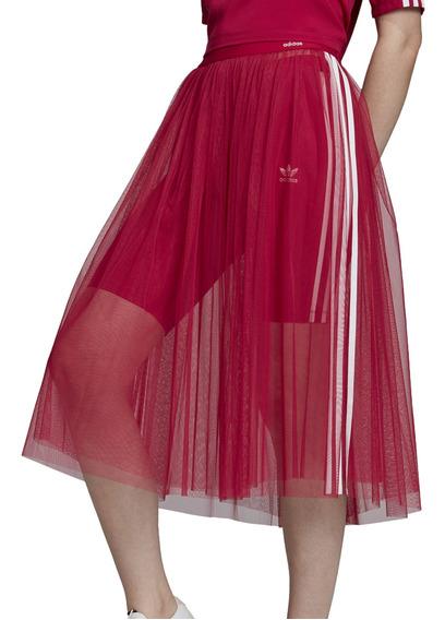 Pollera adidas Originals Moda Skirt Tulle Mujer Ob/bl