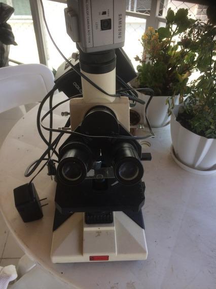 Microscópio Com Câmera