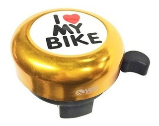 Buzina Campainha Trim Trim De Metal I Love My Bike Cores