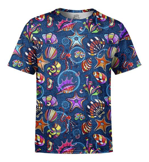 Camiseta Masculina Fundo Do Mar Estampa Digital
