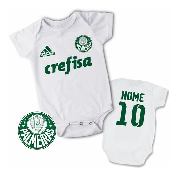 Body Infantil Personalizado Camisa Do Palmeiras Com Nome!