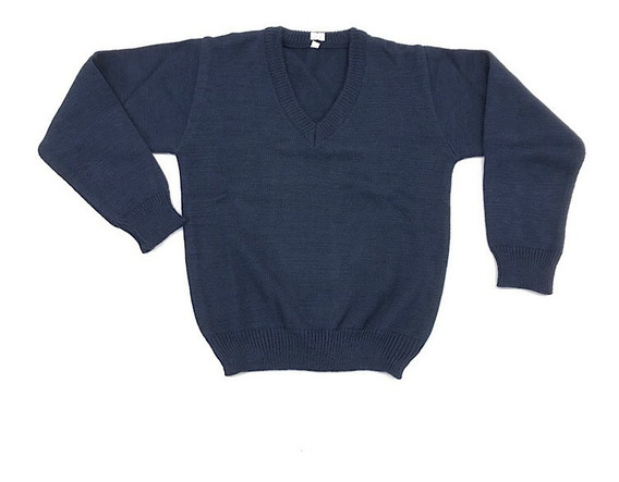 Sweater Infantil Colegial Escote En V Talles 6 Al 16
