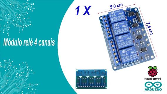 Módulo Relé 4 Canais 5v Arduino, Pic, Raspiberry Automação.