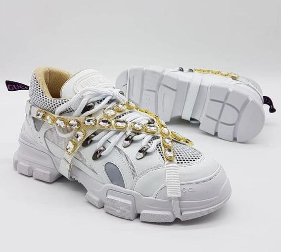 Tênis Gucci Sneaker Flashtrek Cristais Mega Promoção!!!
