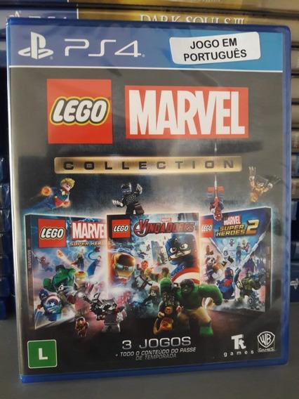 Lego Marvel Collection Ps4 Midia Física 3 Jogos Em Português