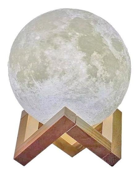 Luminária Lua 18cm Usb Touch (frete Grátis)