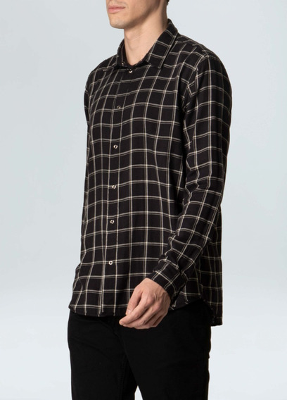 Camisa Osklen Double Pitch Dark Ml