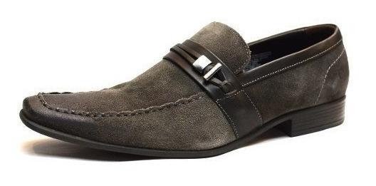 Zapato De Cuero Democrata Hombre Triton - Suela Flex 083121