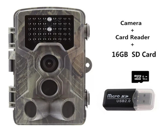 Câmera De Trilha Com Lcd Hc-800a + Micro Sd 16g + Adaptador