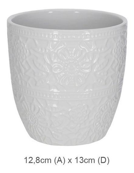 Vaso Cerâmica Branco 12 Cm Kit4