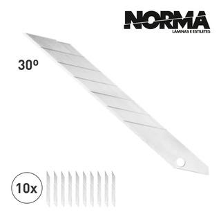 Lamina 30 Graus Para Estilete De 9mm Uso Profissional C/10