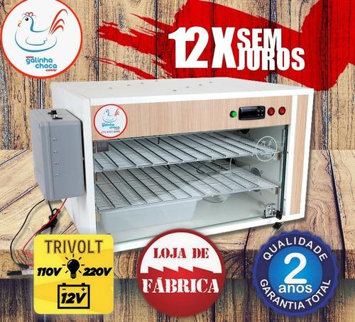 Chocadeira 220 Ovos Trivolt + Carregador Com Tecnologia Pid