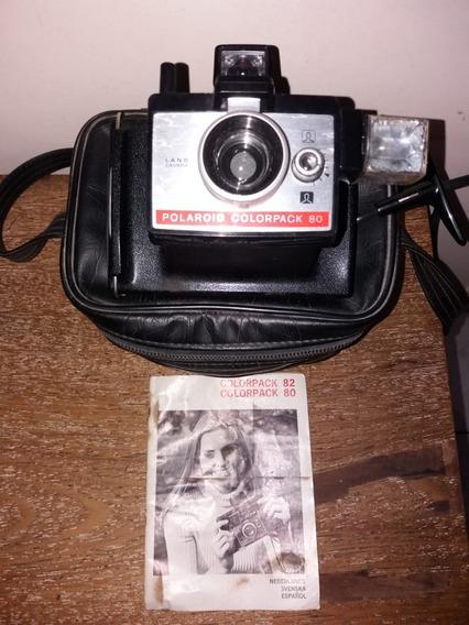Máquina Fotográfica Polaroid Colorpack 80 C/ Manual E Bolsa