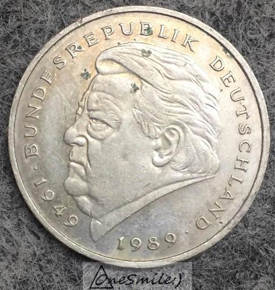 Onesmile:) Moneda De 2 Mark Bundesrepublik Deutschland 89
