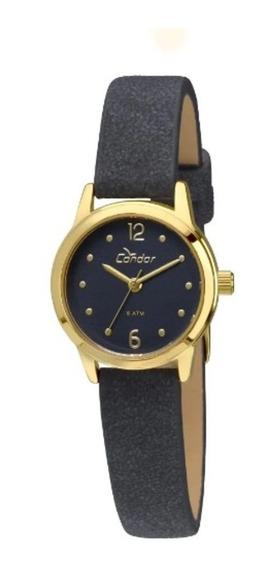 Relógio Feminino Condor Dourado Original Pequeno