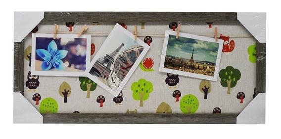 Mural De Fotos Memory Board Decoração Varal Foto Painel