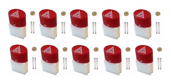 Kit Com 10 Reparos Botão Pisca Alerta Strada Palio 2008