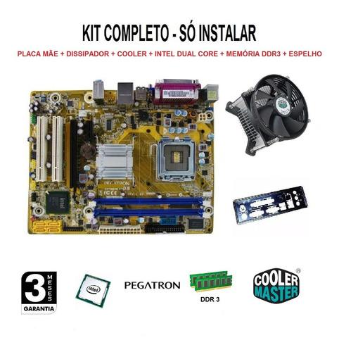 Kit Placa Mãe Ipm41-d3 + Processador + Memória Ddr3