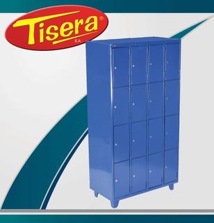 Locker 16 Puertas Metalico Tisera Cerradura Llave Bls-16