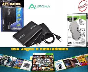 Hd Externo 1 Tera 350 Jogos Xbox 360 Emuladores