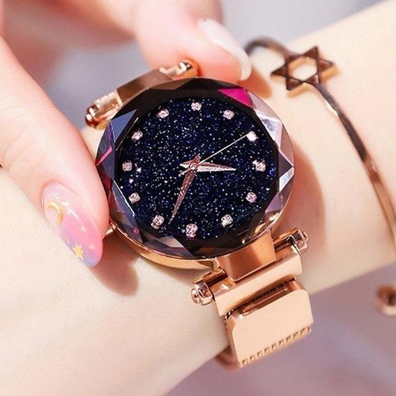 Relógio Céu Estrelado Com Correia Magnética ( Baixou O Preço)
