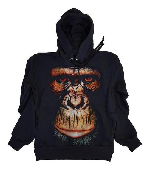 Moleton Macaco Face Monkey Blusa Casaco Moleton