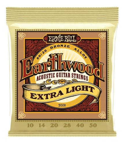 Encordado Ernie Ball Acustica 010 Earthwood 2006
