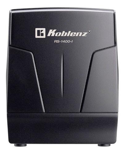 Imagen 1 de 4 de Regulador de voltaje Koblenz RS-1400-I 1400VA entrada y salida de 120V negro
