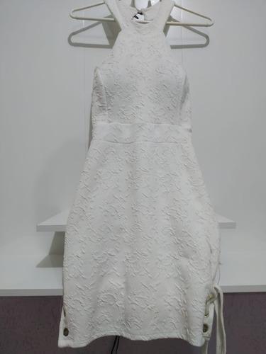 Vestido Branco Duplo Tecido